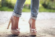 Nice combo - Jeans and heels