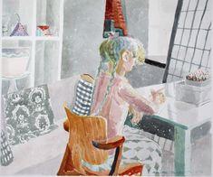 Always with a small Mermaid - Marjatta Hanhijoki Watercolor , 100 x 113 cm. Watercolours, Mermaid, Painting, Art, Kunst, Art Background, Painting Art, Paintings, Performing Arts
