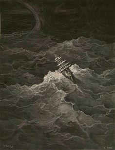 Quadro 4: O navio fugiu da tempestade.