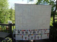 Back of Tokyo Subway Map quilt by Pink for me, via Flickr