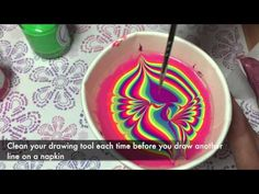 Neon water marble. Two ways of watermarbling/ Неоновый водный маникюр - YouTube