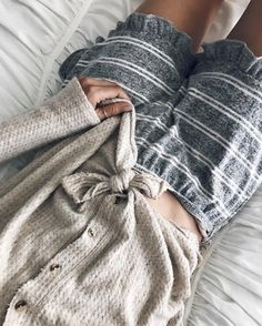 pajamas | cozy | striped shorts | button up sweaters | tied shirts | comfy | sleep