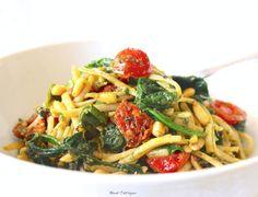 vegan Basil Pesto, Baby Spinach, sun dried Tomatoes, Roma Tomatoes ...