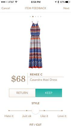 Stitch Fix Stylist: This Renee C Casandra Maxi Dress has a very pretty pattern. I love maxis!