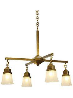 "Ruskin 4 Light Chandelier With 2 1/4"" Fitters/houseofantiquehardware.com"