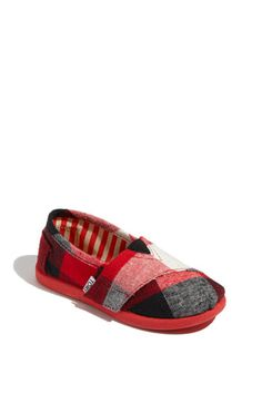 little plaid TOMS! I want these for Damian!