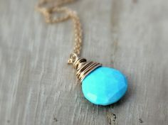 Lovely Day Necklace (Turquoise)