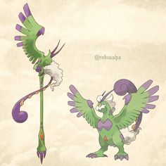 No. 641 - Tornadus (Therian). #pokemon #tornadus #staff #pokeapon