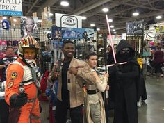 Pin for Later: This Adorable Family Just Put Your Star Wars Halloween Costume Goals to Shame Here they are with Kylo Ren and Poe Dameron.