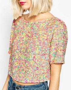 All Over Sequin T-Shirt