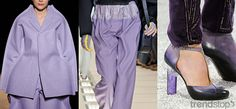 """Emerging color trend for Fall/Winter 2013-2014 is """"Winter Lavender. This is being combined with darker purples in both Women's and Men's Wear. It is predicted to have a long range of impact in this upcoming season. Emily W."""