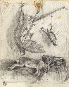1000 images about natures mortes de chasse on pinterest - Dessin nature morte ...