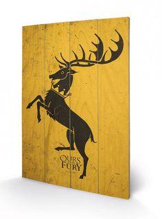 Game of Thrones Holzdruck Baratheon 40 x 60 cm