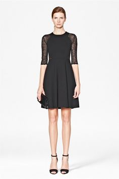 """Vienna Lace Jersey Dress - now $98 - French Connection {take an extra 30% off on sale styles w/ code """"W13PROMO""""}"""