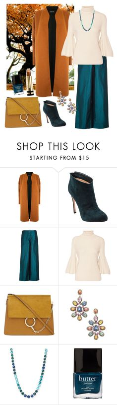 """""""Fall Fashion🍁🍂🍃👜"""" by parnett ❤ liked on Polyvore featuring Warehouse, Gianvito Rossi, TIBI, The Row, Chloé, Arthur Marder Fine Jewelry, Ippolita, Butter London and Gucci"""