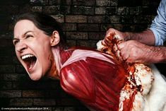 Animals are skinned for leather and fur .How would you like it? #govegan #animalrights