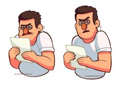 Stan trying to read his homework like…Based off this.