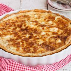 Quiche au camembert, jambon et ricotta