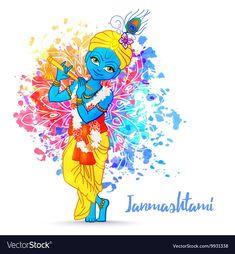 Ornament card with Lord Shri Krishna birthday. Illustration in vector art. Use for banners, card, wallpaper, print. Cartoon little baby krishna image Janmashtami Wishes, Happy Janmashtami, Krishna Janmashtami, Little Krishna, Baby Krishna, Krishna Art, Janmashtami Wallpapers, Krishna Birthday, Happy Raksha Bandhan Wishes