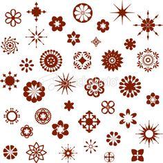 Henna Tattoo, Indian Culture, Pattern, Mandala, Flower, Geometric, Single Flower, Design, Floral Pattern, Snowflake  {via HiDesignGraphics istockphoto.com}
