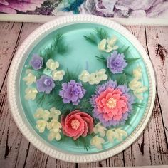 3d jelly art sweet pastel flowers