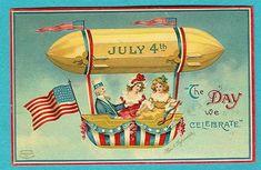 Free 4th of July Vintage Postcards - Vintage Holiday Crafts