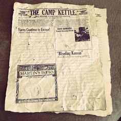 Make an old newspaper for a hands on project for the American Civil War #handson #homeschool