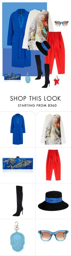 """""""Like angels in the sky..."""" by katelyn999 ❤ liked on Polyvore featuring McQ by Alexander McQueen, Just Cavalli, Edie Parker, Giambattista Valli, Charles David, Maison Michel, Lucien Pellat-Finet, Thierry Lasry and Thierry Mugler"""