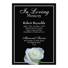 Memorial / Announcement | Floralsympathy | Pinterest