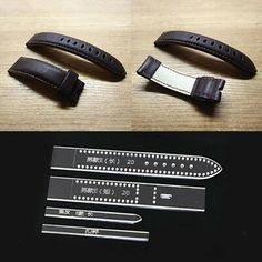 """3 STRAP SIZES DOG COLLAR TEMPLATE SET FOR LEATHER CRAFTERS  3//4/"""" 1/"""" 1-1//4/"""" DCTS"""