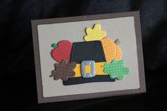 Thanksgiving Pilgrim Hat Greeting Card A2 Dry by PaperKayper