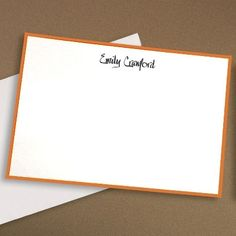 Classic Border Cards in Your Color Choice