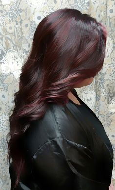 Red and reflective. By Shana Montgomery, owner of Fringe Theory Salon.