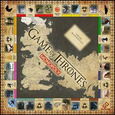 Game of Thrones Monopoly  Digital Copy by Desiren on Etsy, $10.00