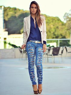 Perve on more ripped denim delights her e- http://dropdeadgorgeousdaily.com/2013/09/denim-stilettos/