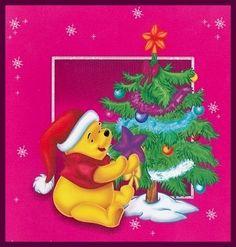 Christmas - Disney - Winnie-the-Pooh Winnie The Pooh Christmas, Cute Winnie The Pooh, Winnie The Pooh Quotes, Winnie The Pooh Friends, Disney Christmas Decorations, Christmas Cards, Eeyore, Tigger, Disney Love