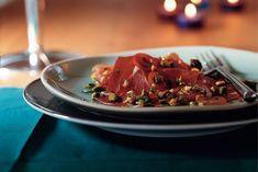 Kijk wat een lekker recept ik heb gevonden op Allerhande! Carpaccio van serranoham en tomaat