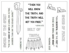Look to Him and be Radiant: Armor of God Bookmarks Bible School Crafts, Sunday School Crafts, Bible Crafts, Vbs Crafts, Church Crafts, Catholic Kids, Kids Church, Church Ideas, Catholic School