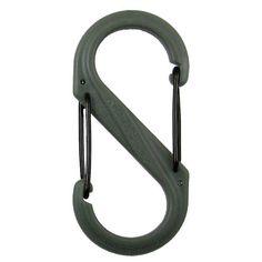 S-Biner Plastic, Size #2, Foliage Green with Black Gates. $1.65