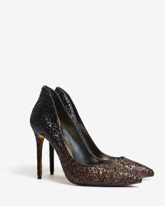 Embellished leather court shoes - Black | Shoes | Ted Baker