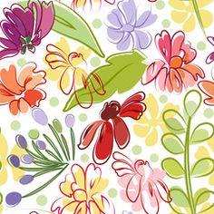 bright floral drawing cartoon