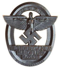 West German Medals   1939 NSFK West German Round Trip Table Medal