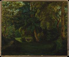 George Sand's Garden at Nohant  Artist:Eugène Delacroix (French, Charenton-Saint-Maurice 1798–1863 Paris) Date:1840s Medium:Oil on canvas