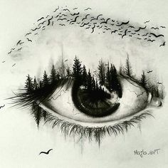 Super creative eye drawing By @majla_art