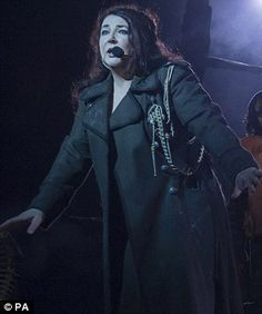 Kate Bush during her first concert in 35 years in a welcome return to the Hammersmith Apollo