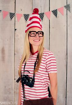 f2ee7ed57fb Where s Waldo is a great last-minute costume for parents or kids. Cheap Easy