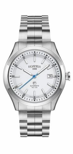 Roamer Rotodate RD 100 Stainless Steel White Dial Watch