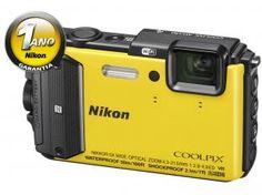 """Câmera Digital Nikon Coolpix AW130 16MP LCD 3"""" - Zoom Óptico 5x Filma Full HD À Prova de Água"""