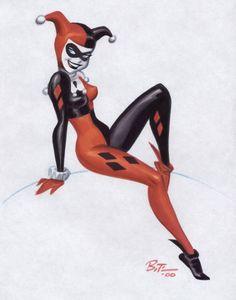 Harley Quinn Pin Up