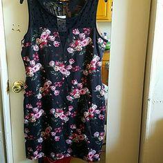 H&M Rockabilly Floral Print Dress Size L Nwt